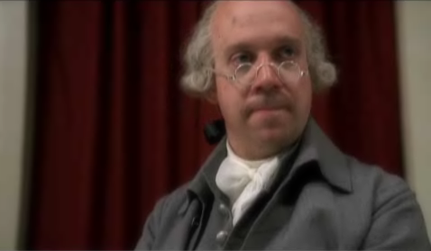 John Adams as portrayed in the series by Paul Giamatti
