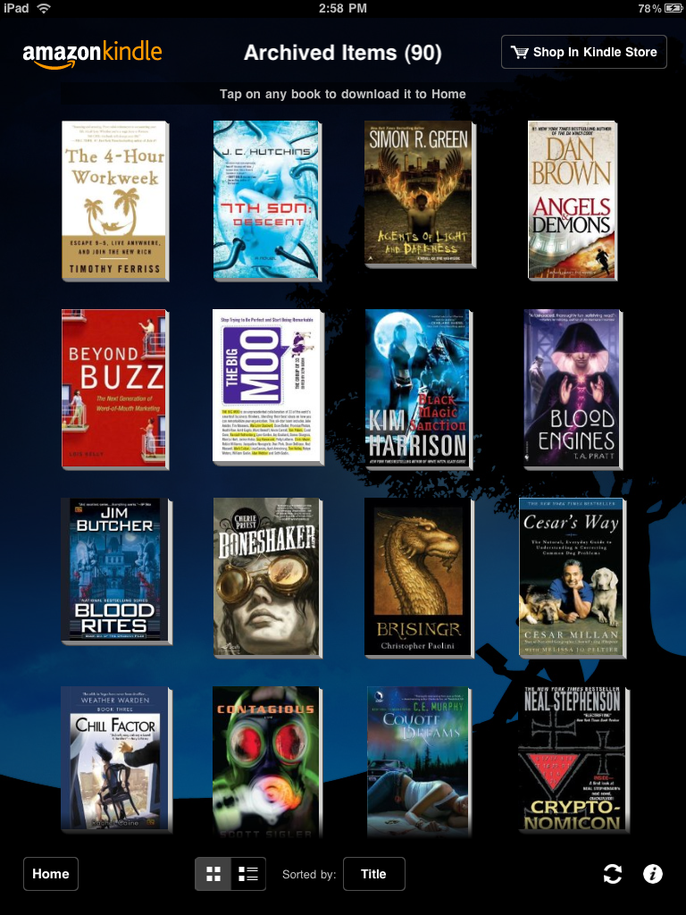 review of ipad ebook reader apps the kindle nook ibooks the home screen where you can add to take away and navigate your books is passable it is much more aesthetically pleasing than the book reading