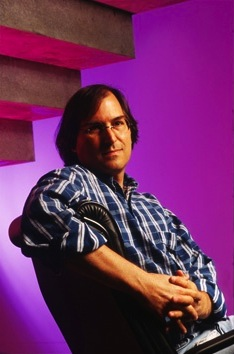 Portrait of Steve Jobs at NeXT in 1995