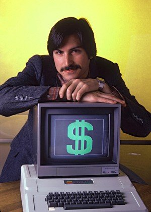 Steve Jobs, a state of the art computer, and money