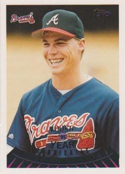Chipper Jones Topps rookie baseball card