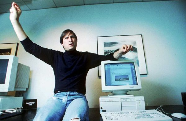 Steve Jobs with a Mac — who knows when