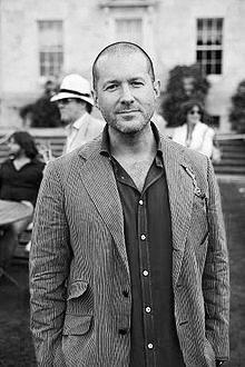 Jonathan Ive portrait in suit jacket - black & white