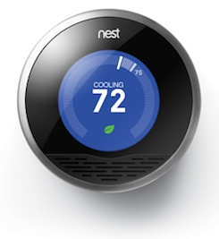 This is what the Nest Thermostat looks like on the front