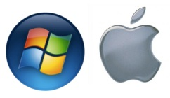 The Windows and Apple logos