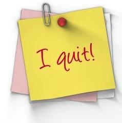 I quit! sticky note