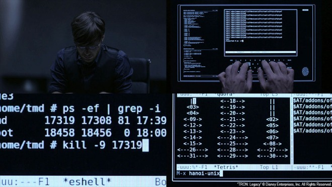 The code of Encom OS 12 is compromised